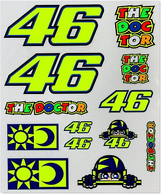 VR46 Racing Apparel Classic 46/Sole E Luna, conjunto de pegatina