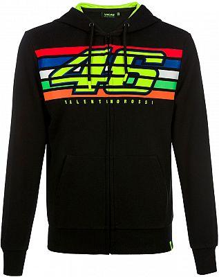 VR46 Racing Apparel Classic 46 Stripes, Sudadera con capucha zip