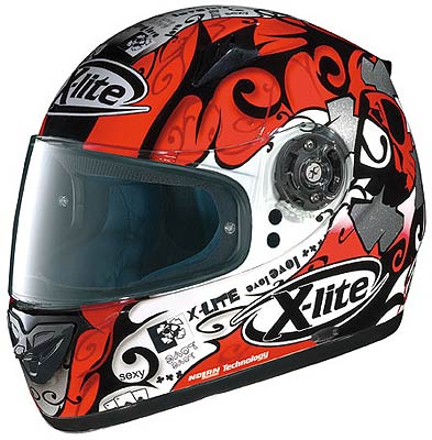 X-Lite X-602 Player N-Com red/white, integral helmet