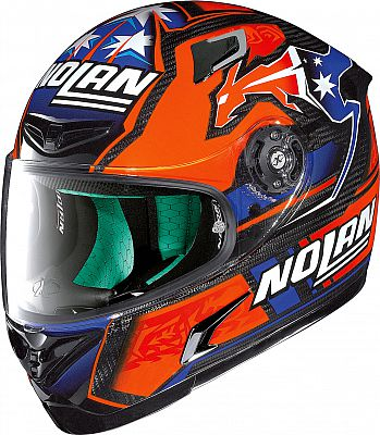 Motoin UK Nolan X-802RR UC Stoner Suzuka Replica 2015, integral helmet