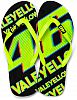VR46 Racing Apparel Valeyellow 46, Flip Flops