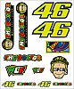 VR46 Racing Apparel Classic VR46, Sticker-set groß