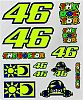 VR46 Racing Apparel Classic 46/Sole E Luna, Sticker-Set groß