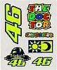 VR46 Racing Apparel Rossi Classic, sticker set