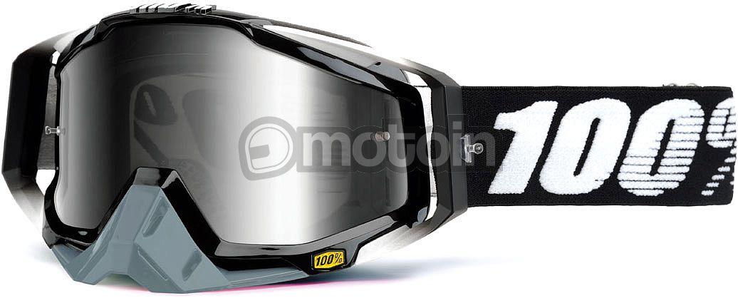 100 Percent The Racecraft Abyss, Crossbrille Schwarz/Grau Klar