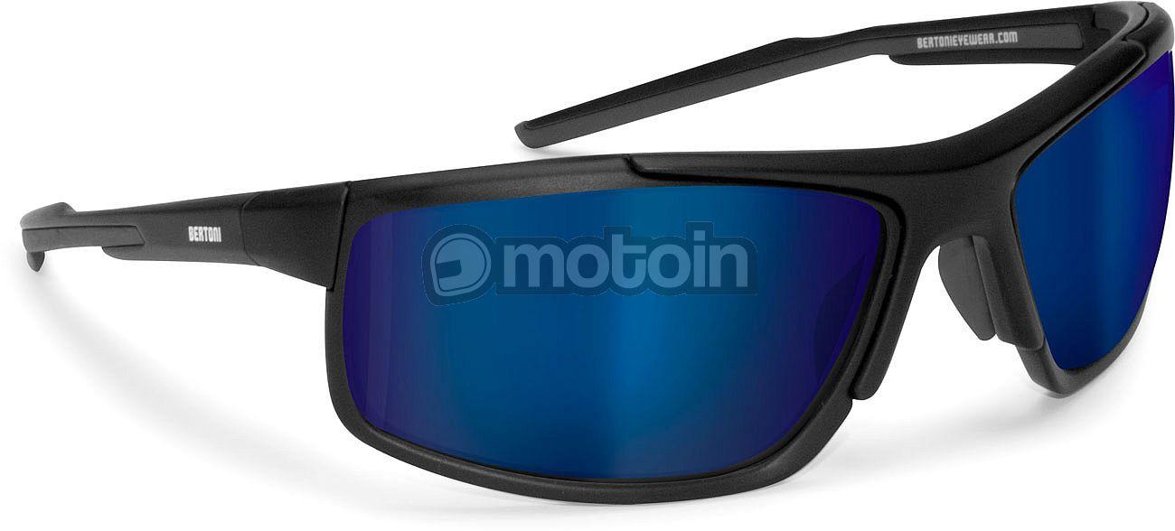 Bertoni D180A Sonnenbrille Schwarz/Blau MSmFzMOkPk