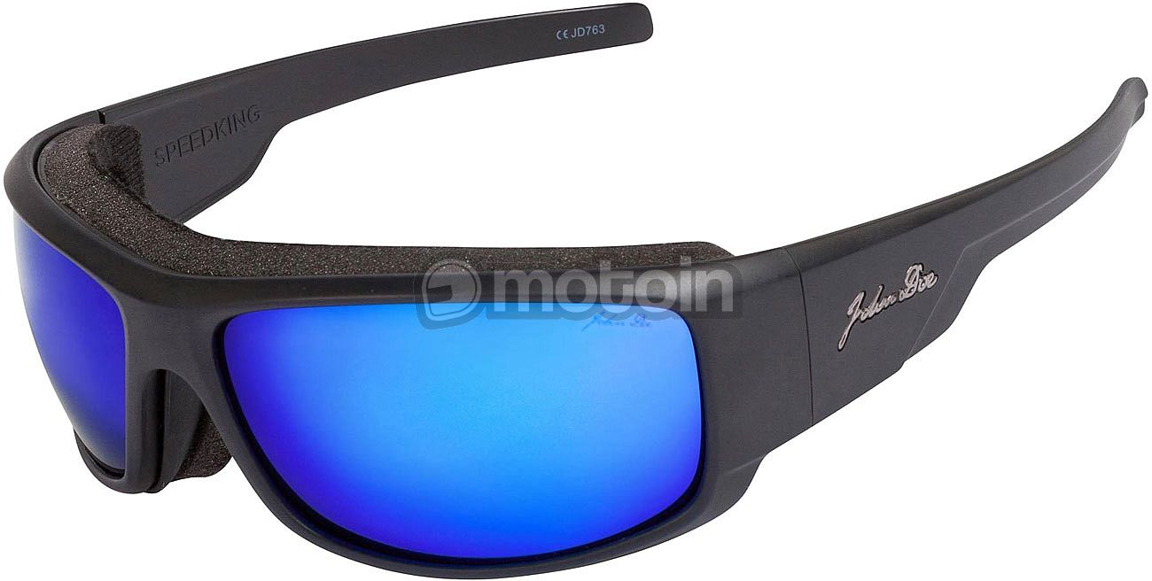 John Doe Speedking Revo, Sonnenbrille Schwarz/Gelb , Größe Einheitsgröße